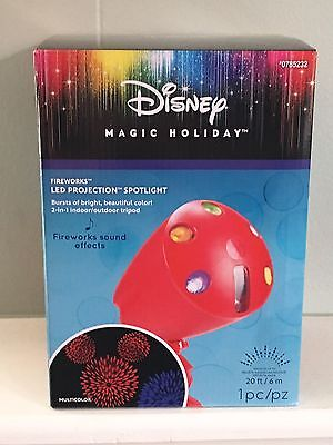 Disney Magic Holiday Fireworks LED Projection Spotlight With Sound Effects NEW