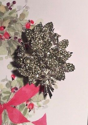 Vintage  1950 's Exquisite Birthday Brooch -  Marcasite Pansy For May   - Rare