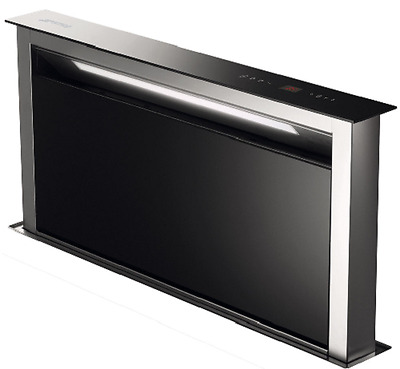 Smeg KDD90VXE 90cm Downdraft Extractor Black Glass And Stainless Steel New 2016!