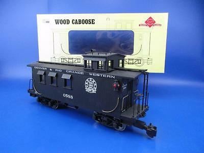 "Aristocraft Art-82101 Wood Caboose ""drgw/rio Grande 0588"""