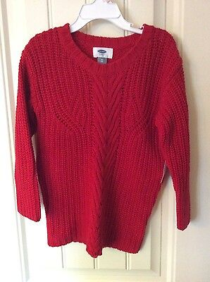 NWT GIRLS SIZE 5T Old Navy Red cable knit sweater