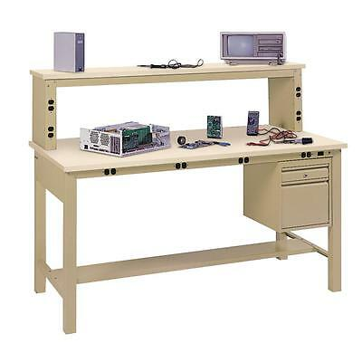 Edsal Workbench Top 1 in. H x 60 in. W x 30 in. D Anti Static ESD Table Garage