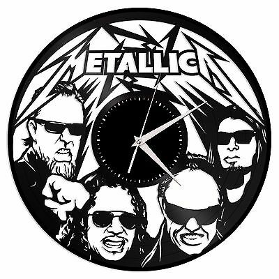 Metallica Vinyl Wall Art Clock Record Hand Made Home Decor Exclusive Gift 12""