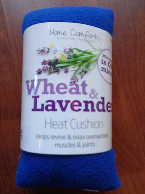 Home Comforts Blue Wheat & Lavender Heat Cushion New