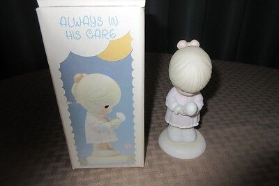 """PRECIOUS MOMENTS FIGURINE """"Always In His Care"""" (1990 Easter Seals) 524522"""