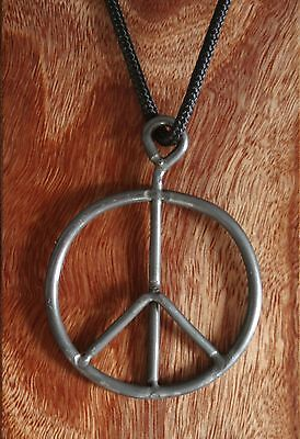"1969 Woodstock Festival fence Peace Sign Necklace, not ""Original"" FAKE ticket"