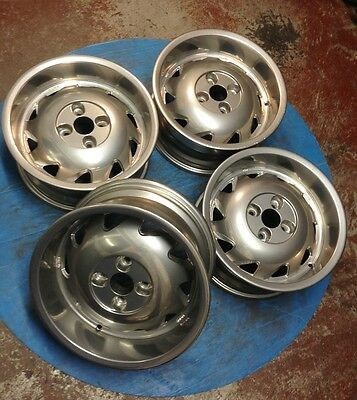 "Rare 15"" Rial Bullet 4x100 deep dish refurbed VW Golf Lupo Polo Honda mx5 BMW"