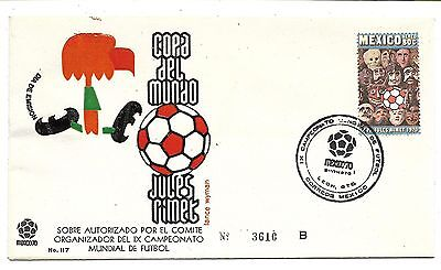 1970 Mexico - World Cup Finals - Postal Cover / Fdc / Fifa / Leon Postmark