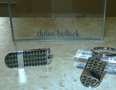 COLIBRI  Stainless & LAQUERED money clip, key ring matched set free ship diamond
