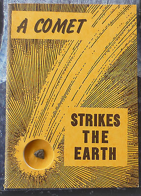 "H.H. NININGER book ""A Comet Strikes The Earth"" with meteorite fragment in book!"
