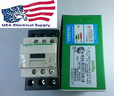 New Schneider Contactor LC1D38G7C With Coil 120V 50/60Hz
