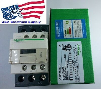 New Schneider Contactor LC1D38M With Coil 220VAC 50/60Hz