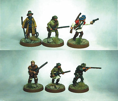 Warlord - American Pioneers/Indian Fighters x 6 Painted and based 28mm
