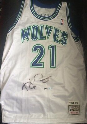 Kevin Garnett Signed Authentic Jersey UDA COA Timberwolves NBA Basketball Auto