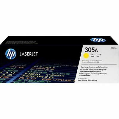 Genuine HP Laserjet Printer Toner Cartridge 305A / CE412A (Yellow)