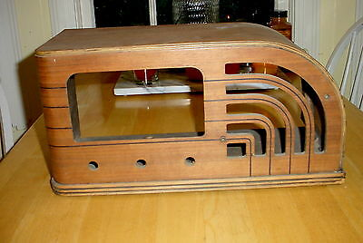 Vintage GE F-63 AM SW Tube Radio Wood Cabinet Shell