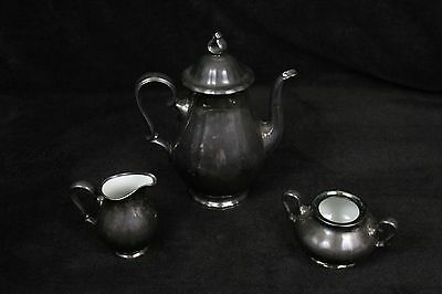 Rosenthal Silver Plated Porcelain China Tea Set