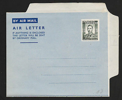 OPC Early Southern Rhodesia KGVI Unused Air Letter aerogramme