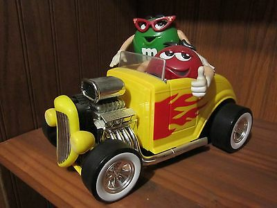 Vintage M & M 's Yellow Hot Rod Candy Dispenser