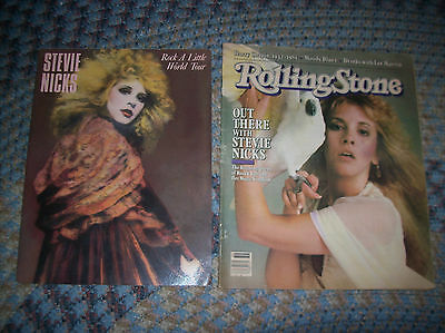 LOT of 2 STEVIE NICKS Related Collectables ROCK A LITTLE TOURBOOK 1981 Magazine