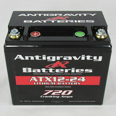 Antigravity Batteries ATX12-24 LEFT OEM Case Size 720CCA Lithium Ion Battery USA