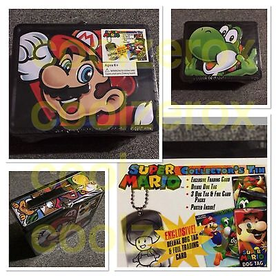 Nintendo Super Mario Tin - Mario / Yoshi Collector tin - Aus Seller