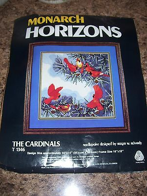 Vintage March Horizons Needlepoint Craft Kit The Cardinals by Roger Reinardy