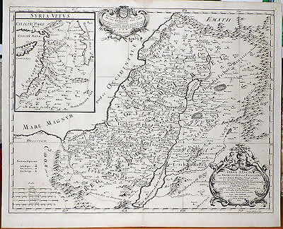 Antique Map of Israel, Palestine, Syria: TERRA SANCTA by Giacomo Cantelli (1679)