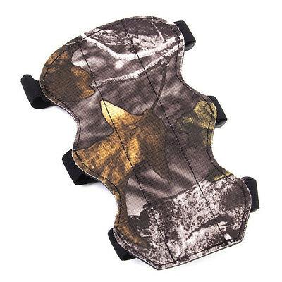 Camo Leather Arm Guard Protective Gear 3 Straps For Archery Shooting Hunting