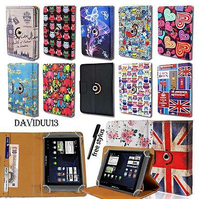 Leather 360° Rotating Stand Cover Case For Various ARCHOS 90 97 101 Model Tablet