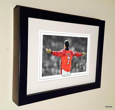 7x5 Signed Eric Cantona Manchester United Autographed Photo Picture Frame1