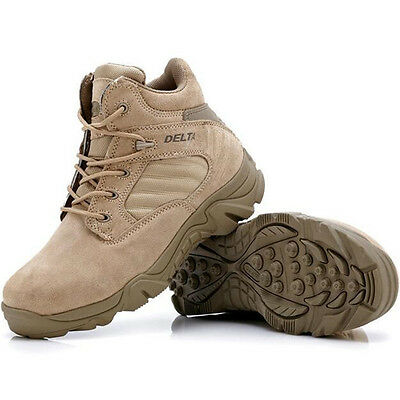 NEW Men's Military Boot Outdoor Tactical Desert Hiking Shoes Comfort Breathable