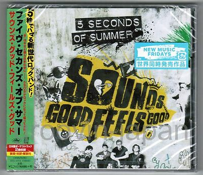 Sealed Promo 5 SECONDS OF SUMMER‎ Sounds Good Feels+2 JAPAN CD UICC-10022 w/OBI