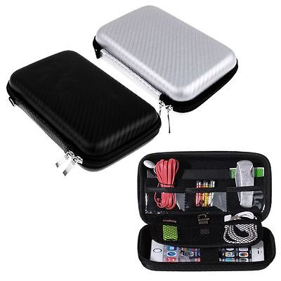 Carrying Storage Bag Pouch Hard Case for Earphone Headphone Earbud SD TF Card FE