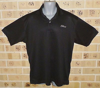 New XL Mens Golf Shirt Top Black Polyester Shop Quality