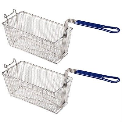 2pcs Deep Fryer Basket Commercial Restaurant Kitchen Chip Fish Food Thick Tube