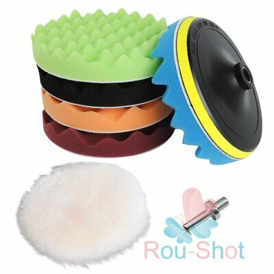 "7PCS 7"" Sponge Polishing Waxing Buffing Pad Kit Set for Car Polisher Buffer【AU】"