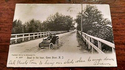 "1907 Toms River, Nj Old Car ""road To The Town"" Pub 1905  A 6377 (Scarce Card)"