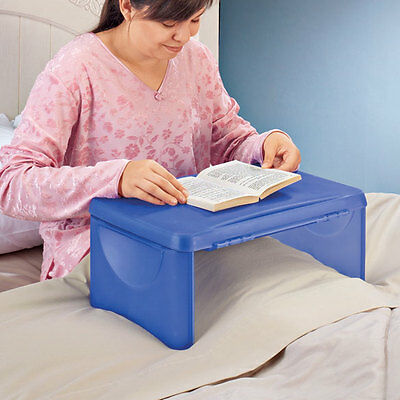 In Bed Storage Folding Lap Desk Sofa Breakfast Plastic Table Reading New Special