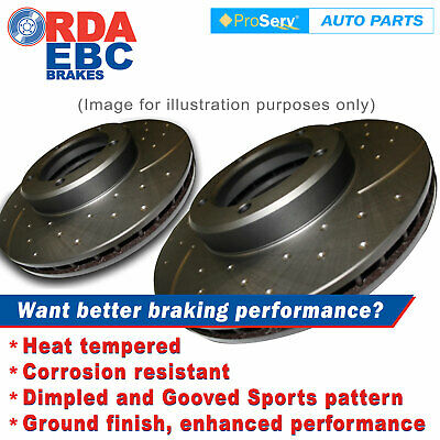 FRONT Dimp Slot DISC BRAKE ROTORS HOLDEN RODEO RA 2WD & 4WD 3.5L V6 Jan2003-2009