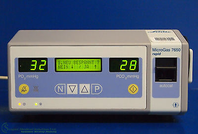 Linde MicroGas 7650 rapid Blutgas Monitor / Blood Gas Monitor