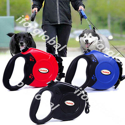 8M Extendable Retractable Pet Dog Training Strap Rope Lead Leash Hold Max 50KG