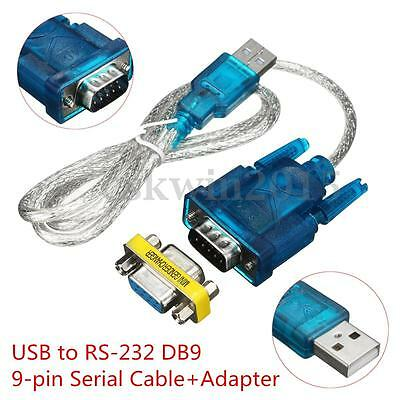 USB to RS-232 RS232 Serial DB9 9-pin Convertitore adattatore Cavo Lead Wire 80cm