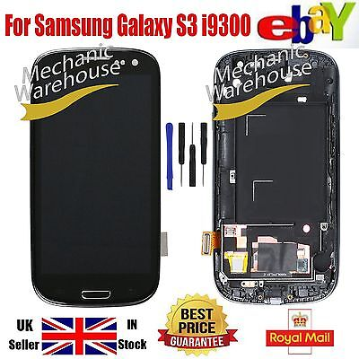 For Samsung Galaxy i9300 S3 LCD Digitizer Touch Screen Display Frame Replacement