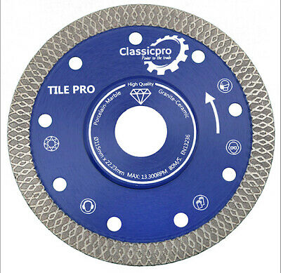 Classicpro Porcelain Tile Turbo Thin Diamond Dry Cutting blade/Disc wheel 115mm