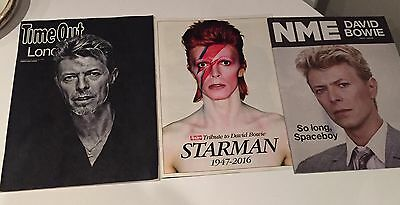 DAVID BOWIE-  3 RARE MAGAZINES January 2016