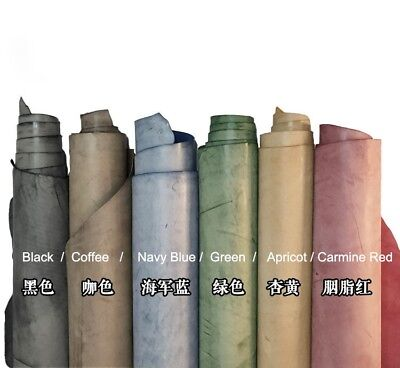 Waxed vegetable tanned cowhide leather material for leather craft DIY  6 Color