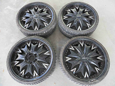 20'' 20 inch 5 Multi Stud Dolce Mag Wheels Rims with 235 30 20 Tyres