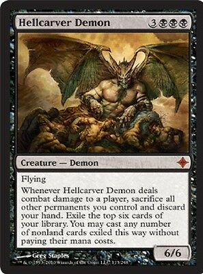 MTG: Hellcarver Demon - Black Mythic - Rise of the Eldrazi - ROE - Magic Card