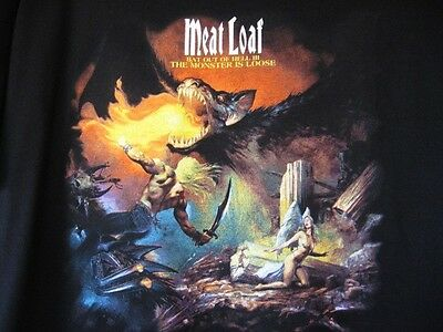 MEAT LOAF...BAT III BASES LOADED TOUR...CONCERT...T-SHIRT...NEW...sz XL